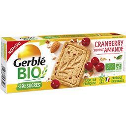 Gerblé Gerble Bio Sablé cranberry saveur amande BIO le paquet de 132g