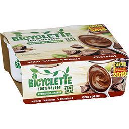 A Bicyclette A Bicyclette Dessert 100% végétal avoine riz amande chocolat les 4 pots de 100 g
