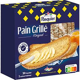 Pasquier Pasquier Pain grillé L'Original la boite de 20 tranches - 415 g