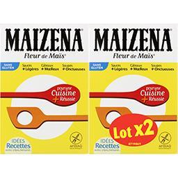 Maïzena Maïzena Farine de maïs sans gluten le lot de 2 boîtes de 400g