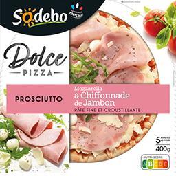 Sodeb'O Sodebo Dolce Pizza - Pizza Prosciutto, mozzarella & jambon la boite de 400g