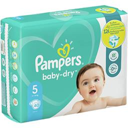 Pampers Pampers Couches baby-dry taille 5, 11-16kg Le paquet de 40 couches