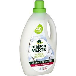 Maison Verte Maison Verte Lessive liquide peaux sensibles à l'amande douce Bio le bidon de 2,4 l