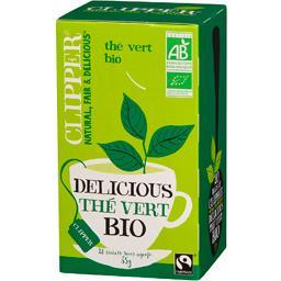 Clipper Clipper Thé vert Delicious bio la boite de 20 sachet - 35 g