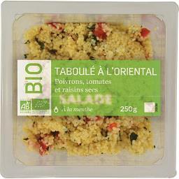 Mix Buffet Notre Sélection Taboulé à l'orientale poivrons tomates et raisins secs BIO la barquette de 250 g