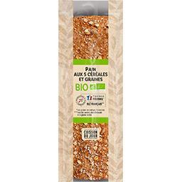 Les 300 & Bio Notre sélection Pain aux 5 céréales et graines BIO le sachet de 300 g