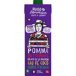 Hugo Le Maraicher Hugo le Maraîcher Boisson fruits & légumes - pomme, betterave, fruit de la passion, eau de coco et fibres d'acacia la brique d'1l