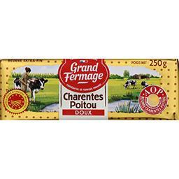Grand Fermage Grand Fermage Beurre extra-fin Charentes Poitou AOP doux la plaquette de 250 g