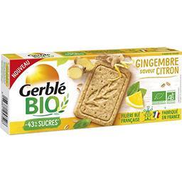 Gerblé Gerble Bio Sablé gingembre saveur citron le paquet de 130g