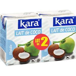 Kara Kara Lait de coco fluide le lot de 2 briques de 200 ml