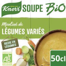 Knorr Knorr Mouliné de légumes variés du potager BIO la brique de 0,5 l