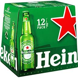 Heineken Heineken Bière blonde les 12 bouteilles de 33cl