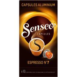 Ethical Coffee Company Senseo Capsules de café Espresso n°7 la boite de 10