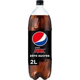 Pepsi Pepsi Max - Soda au cola zéro sucres la bouteille de 2 l