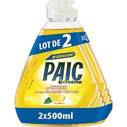 Paic  Paic Extrême - Liquide vaisselle au citron le lot de 2 flacons de 500 ml
