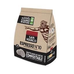 San Marco San Marco Café dosettes Bio espresso N°10 le sachet de 250g