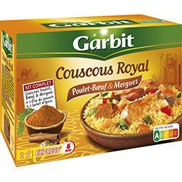 Garbit Garbit Couscous Royal poulet, bœuf & merguez la boite de 760 g