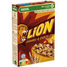 Nestlé Nestlé Lion Céréales petit déjeuner caramel chocolat la boite de 480g