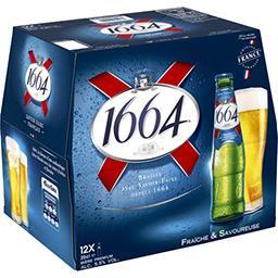 Kronenbourg 1664 Bière blonde le pack de 12x25cl