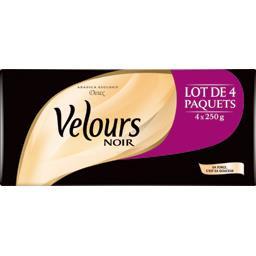 Velours Noir Velours Noir Café moulu doux le lot de 2 paquets de 2x250 g
