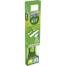 Swiffer Swiffer Balai attrape-poussière avec 1balai, 8lingettes sèches et 3lingettes humides Le kit de démarrage