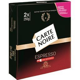 Carte Noire Carte Noire Café moulu Espresso pour percolateur les 2 paquets de 250 g
