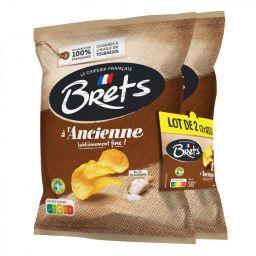 Bret's Chips nature à l'Ancienne les 2 paquets de 125g - 250g