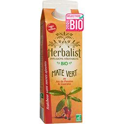 Herbalist Herbalist Boisson Maté Vert Passion Guarana Bio la brique de 1l