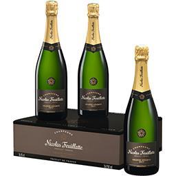 Nicolas Feuillatte Sélection Foire aux vins Nicolas Feuillatte, Champagne brut Grande Réserve, AOP les 3 bouteilles de 75cl - 225cl