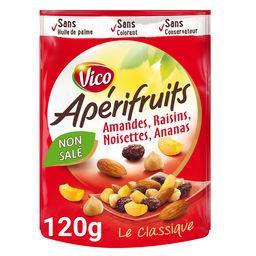 Apérifruits Vico Apérifruits - Mélange Le Classique raisins amandes noisettes ananas le paquet de 120 g