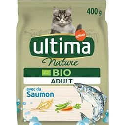 Ultima ULTIMA NATURE croquettes pour chat adulte Bio saumon le sac de 400g