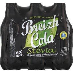 Breizh Cola Breizh Cola Soda au cola stévia les 6 bouteilles de 33 cl