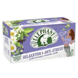 Elephant Eléphant Infusion Relaxation & Anti-stress la boite de 25 sachets - 39,3 g