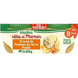 Blédina Blédina Les Idées de Maman - Pomme de terre poulet, dès 8 mois les 2 bols de 200 g
