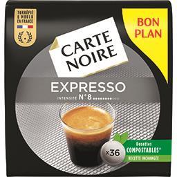 Carte Noire Carte Noire Dosettes de café moulu Espresso le paquet de 36 - 250 g - Bon Plan