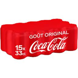 Coca Cola Coca-Cola Soda au cola Original Taste les 15 canettes de 33cl