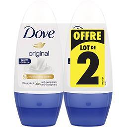 Dove Dove Anti transpirant bille original le lot de 2 roll-on de 50ml
