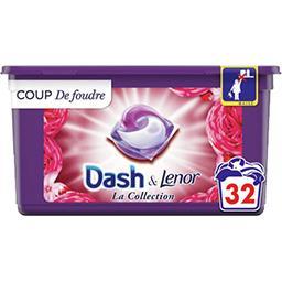 Dash Dash Lessive en capsules la collection coup de foudre La boîte de 32 lavages