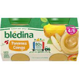 Blédina Blédina Pots de fruits pommes coings - Dès 4-6 mois les 4 pots de 130g - 520g