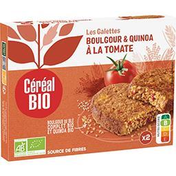Céréal Bio Céréal Bio Galettes quinoa & boulghour à la tomate bio les 2 galettes de 100 g