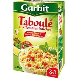Garbit Garbit Taboulé aux tomates fraîches, menthe, citron & huile d'olive la boite de 360 g