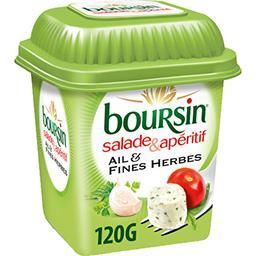 Boursin Boursin Salade & Apéritif - Fromage à l'ail & fines herbes la boite de 120 g