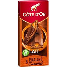 Côte d'Or Côte d'Or Chocolat au lait praliné & caramel la tablette de 200 g