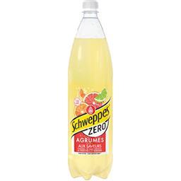 Schweppes Schweppes Zéro - Soda Agrumes aux saveurs de 4 agrumes la bouteille de 1,5 l