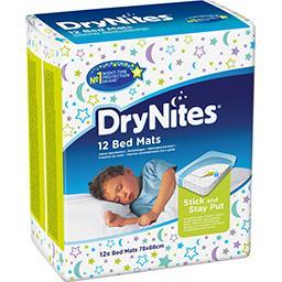Huggies DryNites Alèses absorbantes matelas 78x88 cm le paquet de 12