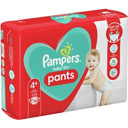 Pampers Pampers Couches-culottes baby-dry pants taille4+, 9-15kg Le paquet de 39 couches