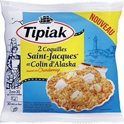 Tipiak Tipiak Coquilles Saint-Jacques et Colin d'Alaska le sachet de 2 - 180 g