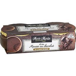 Marie Morin Marie Morin Mousse au chocolat à l'ancienne Les 2 pots de 100g