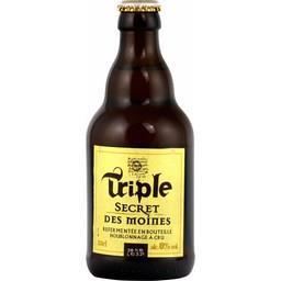 Secret des Moines Notre sélection Bière blonde Triple Secret des Moines la bouteille de 33 cl