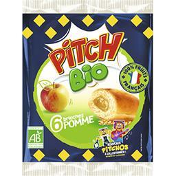 Pasquier Brioche Pasquier Pitch - Brioches pommes BIO les 6 brioches de 38,75 g
